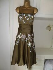 """GEORGEOUS LINED 54% SILK DRESS BY MONSOON IN VG CON SIZE UK 16-18 BUST 42"""""""