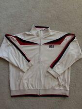 Vintage FILA velour track jacket XL gosha VTG full zip 90's hip hop Bjorn Borg