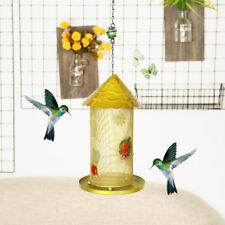 Vintage Pet Bird Feeder Seed Nuts Container Tree Perch Hanging Outdoor Garden