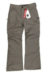 Volcom Big Boys Freakin Snow Chino Size Large (12) Teak Snowboard Ski Pants $110