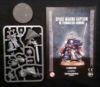 40K Space Marine Captain in Terminator Armor Warhammer Marines Adeptus Astartes