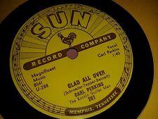 CARL PERKINS : GLAD ALL OVER / LEND ME YOUR COMB.  US.Original Sun 78rpm (1957)