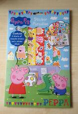,CHILDRENS KIDS PEPPA PIG STICKER PARADISE BOOK ALBUM & REUSABLE STICKERS - NEW