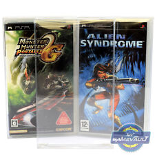 5 x PSP Game Box Protectors Playstation STRONG 0.4mm P.E.T Plastic Display Case
