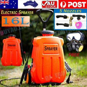 12V 16L Electric Backpack Sprayer Garden Farm Spray Pump Weed Watering Trolley