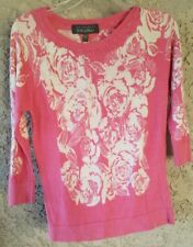 Charlotte Tarantola Womens Floral Top Shirt Pink Small