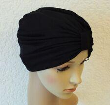 Women's Turban, Fashion Front Knotted Turban, Full Turban Hat, Black Turban