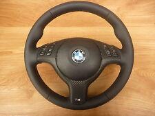 Glates schwarz Lederlenkrad BMW E46  M Lenkrad mit Blende Multifu. und Airbag