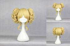 Lange Gelockt-Klassische-Kappe Perücken & Haarteile mit Goldblond