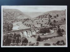 Derbyshire: MONSAL DALE, The Viaduct & Loco c1916 Old Postcard by Frith No.67588