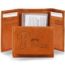 Philadelphia Phillies Leather Tri Fold Wallet Embossed Logo