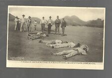1905 unused postcard YAQUIS AFTER THE EXECUTION, GUAYMAS, MEXICO   W.L. Grey