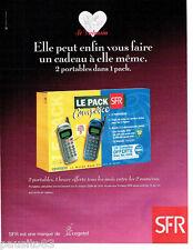 PUBLICITE ADVERTISING 096  1999  le pack téléphone portable SFR  complice