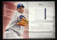 CC Sabathia 2020 Topps Series 2 Pinstripe Relic Jersey Yankees