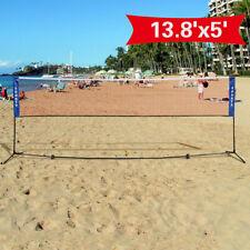 Costway Portable 13.8'x5' Badminton Beach Volleyball Tennis Training Net w/ Bag