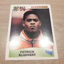 Panini UEFA Europa 96 Patrick Kluivert (Nederland)  # 90 Original back