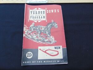 June 17 1955 Official Program Vernon Downs NY Harness Horse Racing Track Race