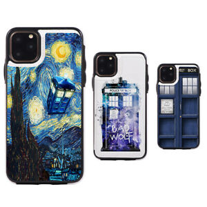 Starry-Night-Doctor-Who Card Slot Wallet Phone Case fit for iPhone & Samsung