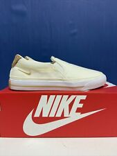 New listing Nike Court Legacy Slip-On Canvas Tennis Shoe/Pick Gray-Blue or Pale-Ivory SRP$55