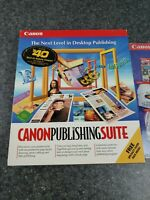 Vtg Canon Publishing Suite Software Photos, Special Effects New Old Stock 1999