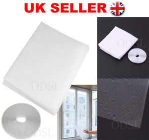 Insect Screen Window Netting Kit Fly Bug Wasp Mosquito Curtain Mesh Net Cover