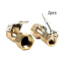 Pair Heavy Duty Brass Clip-on Female 1/4'' NPT Cars Tire Tyre Inflater Air Chuck