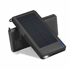 Titita Solar Charger 10000mAh Quick Charge 3.0 Solar Power Bank with 2 USB Po...