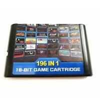 Hight quality 196 in 1 games cards cartridge 16 bit For Sega Mega Drive