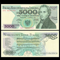 Poland 5000 (5,000) Zlotych, 1982, P-150a, UNC