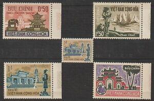 1964 South Vietnam Stamps Temple, Saigon Sc # 247 - 250 & 250A Coil MNH