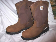 Carhartt Boots Mens 14 R Water Proof Boots Steel Toe Work Boots Leather Boots 14