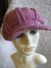 Rose Tweed 'Newsboy' Hat - Simple Knitting Pattern