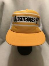 Vintage Bahamas Stripe Snapback Hat Cap