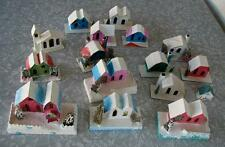 Vintage Putz Village Mica House lot of 16 Made in Japan 1950s 1960s FREE SHIP