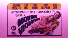 MOVING VIOLATION - STEPHEN MCHATTIE ,LENZ GLASS SLIDE CINEMA MOVIE ADVERTISING