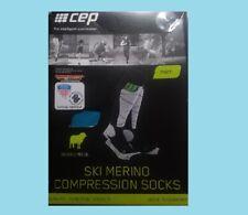 CEP MERINO SKI SNOWBOARD COMPRESSION SOCKS MEN'S SIZE IV 39-44 CM BLACK BLUE NEW
