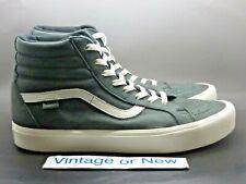 Vans Vault x Horween Sk8-Hi Reissue Lite LX Olive Green White Skate Shoes sz 12
