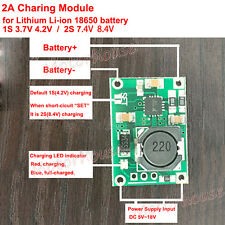 1S 2S 2A 3.7V 7.4V Charger Charging Module for 18650 Lithium Li-ion Lipo Battery