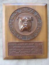 1973 Mack Bulldog Truck Sales Award Sign Roberts Rocky MT. Equipment