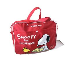 Vintage Snoopy and Woodstock School Bag Sanrio Made In Japan EXC
