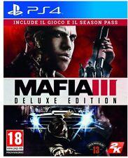 MAFIA 3 - DELUXE EDITION PS4 VIDEOGIOCO PLAY STATION 4 ITALIANO + SEASON PASS