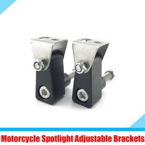 Motorcycle Spotlight Fog Lamp Bracket Mounting Post Support Base Aluminum Alloy