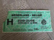 Ticket Nederland - Belgie 1985