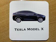 Tesla Modelo X Dorso de Corcho Posavasos
