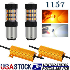 LED Front Turn Signal DRL Parking Light Bulbs Switchback 1157 Canbus Error Free