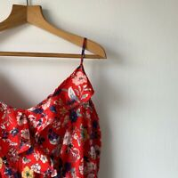 Aomens Pep&Co Red Floral Floaty Dress Size 20 Sleeveless Summer Holiday Top