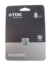 TDK Life on Record 8GB microSDHC flash memory card class 4 - new on card