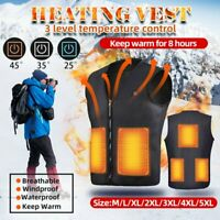 Electric USB Winter Heated Warm Vest Men Women Heating Coat Jacket Clothing New