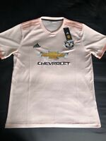 Manchester United Pink Away Shirt 2018/19 - Brand New With Tags. Size M