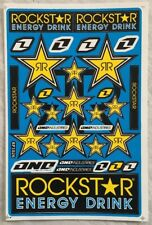 32 Rockstar Energy Drink Stickers Dirt Pit Bike MTB Motocross Helmet BMX Quad